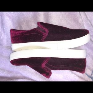 Mossimo Supply Co. Shoes - Mossimo velvet maroon slip ons
